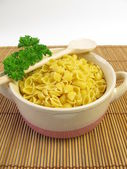 Soup noodles and parsley — Stock Photo