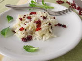 Cooked rice with barberries — Stock Photo
