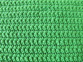 Crochet pattern from single crotchet stitch in green — Stock Photo