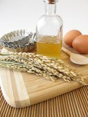 Rice syrup and other baking ingredients — Stock Photo