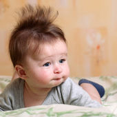 Mohawk hairstyle for baby — Stock Photo