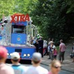 Advertising caravan of the tour de France 2013 — Stock Photo