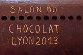The salon du chocolat — Stock Photo