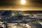 Sunrise at the beach — Stock Photo