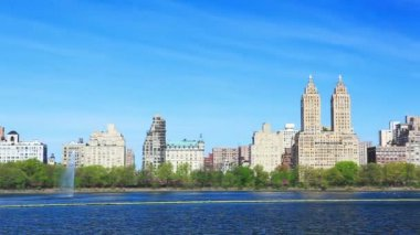 Central Park and Manhattan panorama — Stock Video