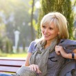 Lovely woman in park — Stock Photo