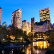 NYC Central Park at dusk — Stock Photo