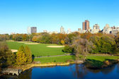 Central Park in autumn — Stock Photo