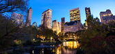 New york central park al crepuscolo — Foto Stock