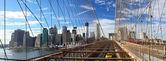 NYC Brooklyn Bridge panorama — Stock Photo