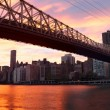 NYC Queensboro Bridge panorama — Stock Photo