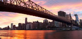 Panorama de ponte de queensboro Nyc — Fotografia Stock