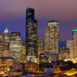 Seattle evening panorama — Stock Photo