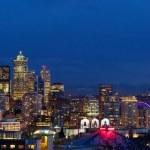 Seattle skyline panorama — Stock Photo