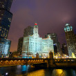 Chicago at night — Stock Photo #20033217