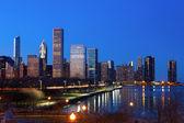 市中心芝加哥 — 图库照片