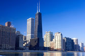Chicago urban skyline — Stock Photo