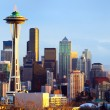 Seattle skyline panorama at sunset — Stock Photo