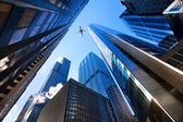 Chicago looking up — Stock Photo