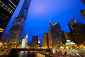 Chicago river a panorama — Stock fotografie