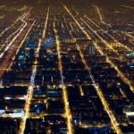 Night city lights panorama — Stock Photo