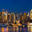 Night lights of New York — Stock Photo