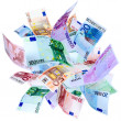 flying euro — Stock Photo