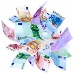 Flying Euro — Stock Photo