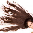 Girl with beautiful long hair — Stock Photo