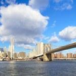 Lower Manhattan panorama — Stock Photo