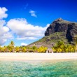 Stock Photo: Mauritius beach panorama