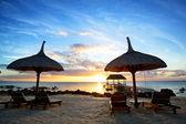 Mauritius sunset — Stock Photo