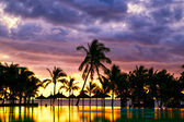 Mauritius sunset — Stock Photo