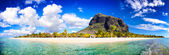Mauritius beach panorama — Stock Photo