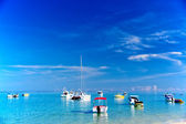Boats in Mauritius — Stock Photo