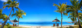 Tropical beach panorama — Stock Photo