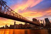 мост квинсборо nyc — Стоковое фото