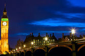 Big ben di notte — Foto Stock