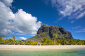 Mauritius white beach — Stock Photo