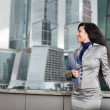 The business woman smiles — Stock Photo