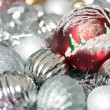 Beautiful New Year's balls — Stock Photo