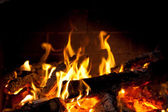 Burning wood — Stock Photo