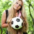 Stock Photo: Girl holding ball