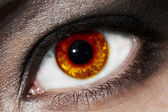 Fiery eye — Stock Photo