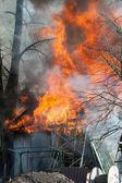 Barn Fire — Stock Photo