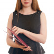 Woman with red folder — Stock Photo #46213463