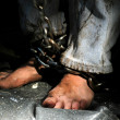 Stock Photo: Chained person.