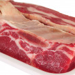 Meat. Isolated — Stock Photo
