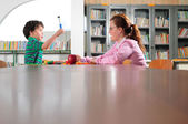 In the classroom. — Stock Photo