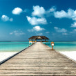 Jetty to Beach Cabana — Stock Photo